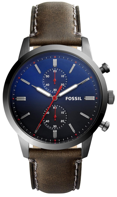 fossil herrenuhr townsman fs5378 chronograph leder. Black Bedroom Furniture Sets. Home Design Ideas