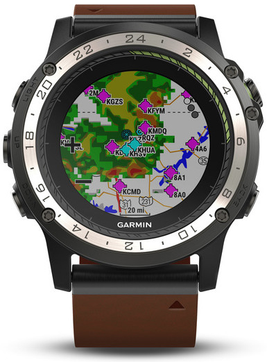 garmin d2 charlie aviator watch titanium lederband. Black Bedroom Furniture Sets. Home Design Ideas