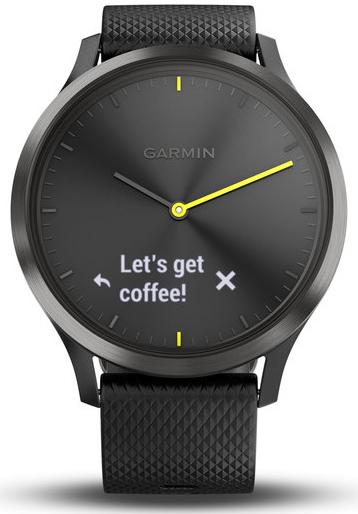 garmin fitness tracker vivomove hr sport schwarz schwarz. Black Bedroom Furniture Sets. Home Design Ideas