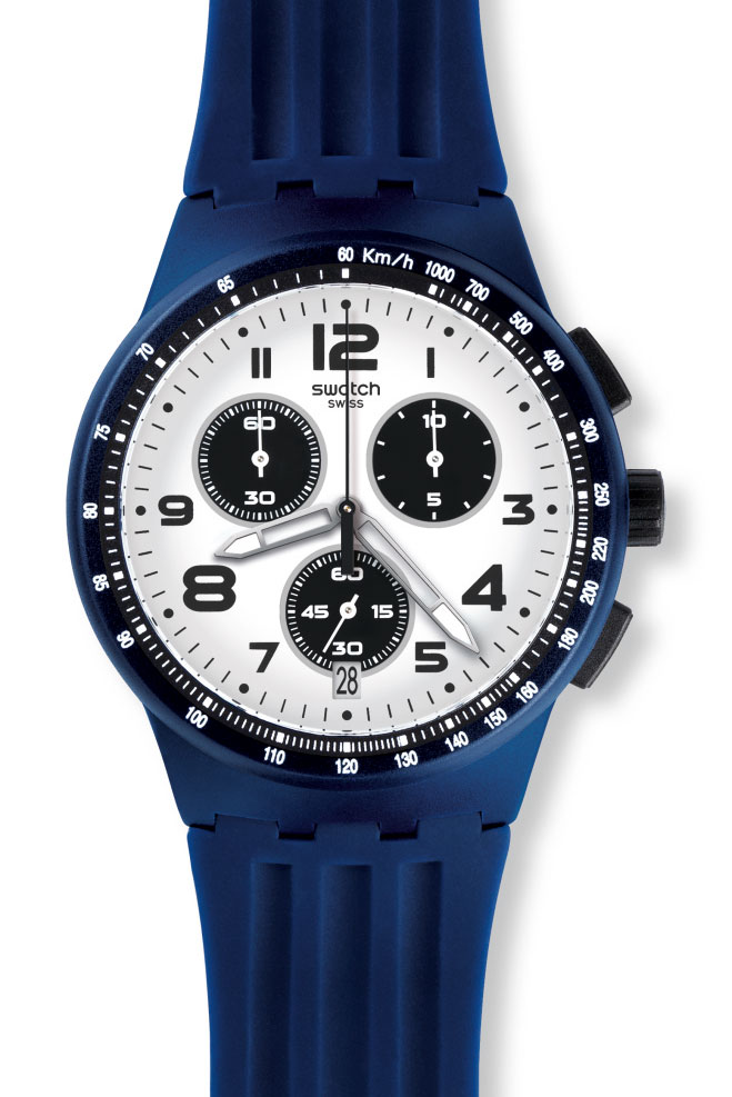 Chocuhren Chrono Swatch Sport Uhr Susn408 New Mixer Plastic Travel n0wPOkX8