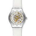 Swatch Uhr YAS109 LATE NIGHT GLAM Irony Automatic Rosetta Bianca