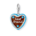 Thomas Sabo CC 1099-007-2 Anhänger Gingerbread Heart CHARM CLUB Lebkuchenherz - best friend