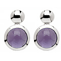 Bastian 9381 Inverun Earrings Silber Ohrstecker Amethyst