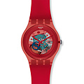 Swatch Uhr SUOR 101 New Gent Collection Red Lacquered