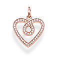 Thomas Sabo PE671-416-14 GLAM & SOUL Silver Ösen-Anhänger  Herz roségoldfarben THE ETERNITY OF LOVE Pavé weiß