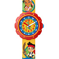 Flik Flak Uhren FLSP006 Kinderuhr Pre-School Scuba Boy (5+) Disney Jake and the Never Land Pirates
