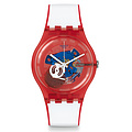 Swatch Uhr SUOR102 RED WHITE & BLUE New Gent Clownfish Red
