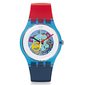 Swatch Uhr SUOS101 RED WHITE & BLUE New Gent Color My Laquered
