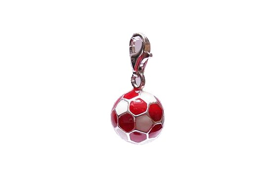 Thomas Sabo Anhänger CC 0504 CHARM CLUB Fußball in rot/weiss