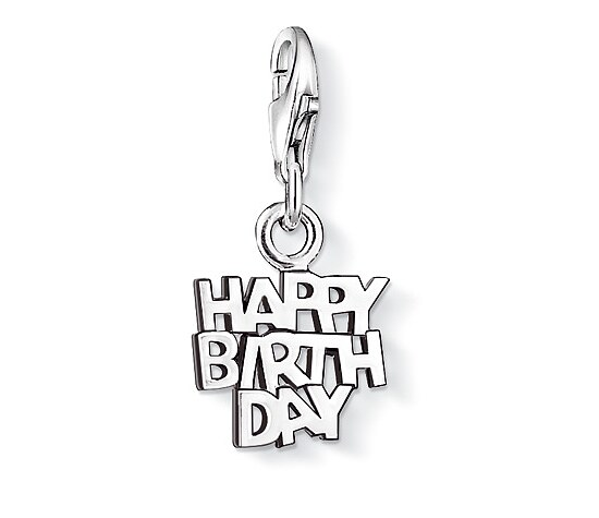 Thomas Sabo CC 0883 Anhänger CHARM CLUB Tag HAPPY BIRTHDAY