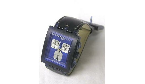 Swatch Uhr Square Chrono SUEN 400C Midnight