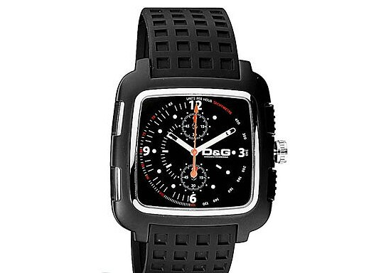 Dolce & Gabbana Chronograph DW0362 Men black Square