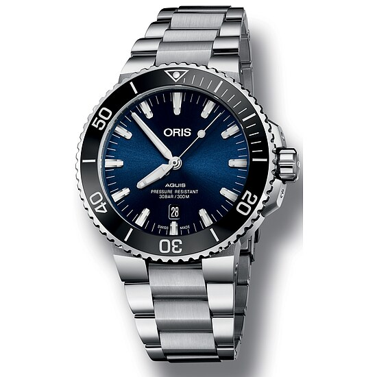 Herren Taucheruhr von Oris Aquis Date 733 7730 41 35 MB bei Uhrendirect - Markenuhren