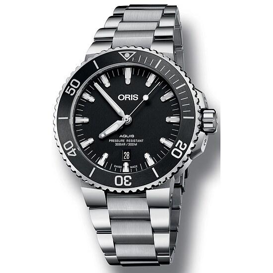 Herren Taucheruhr von Oris Aquis Date 733 7730 41 54 MB bei Uhrendirect - Markenuhren