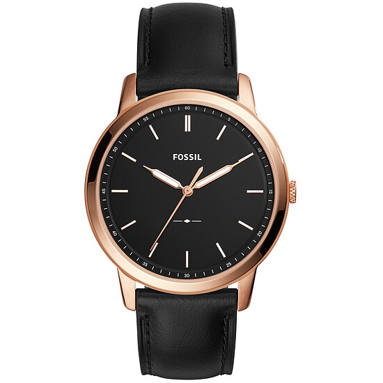 Fossil Men´s Casual THE MINIMALIST Herrenuhr FS5376 in Edelstahl plattiert aus der Uhren-Serie THE MINIMALIST
