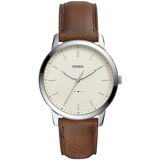 Fossil Men´s Casual THE MINIMALIST Herrenuhr FS5439 in Edelstahl aus der Uhren-Serie THE MINIMALIST