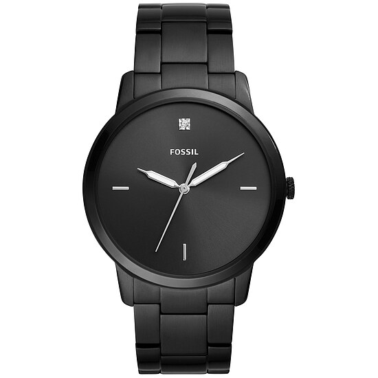 Fossil Men´s Casual THE MINIMALIST Herrenuhr FS5455 in Edelstahl aus der Uhren-Serie THE MINIMALIST 3H