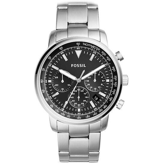 Fossil Herrenuhr Goodwin FS5412 - Chronograph - Stahl - schwarz der Uhrenserie Neutra