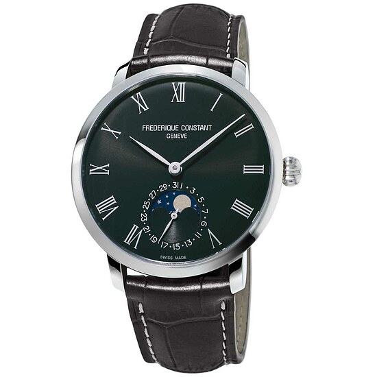 Frederique Constant Herrenuhr FC-705WR4S6 der Uhrenserie Slimline Manufacutre Moonphase