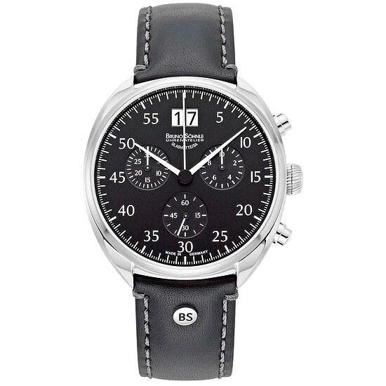 Glashütte Uhren-Serie 17-13208-721 Herrenuhr mit Grossdatum und Chronograph der Serie La Spezia