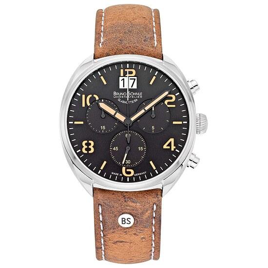 Glashütte Uhren-Serie 17-13208-761 Herrenuhr mit Grossdatum und Chronograph der Serie La Spezia