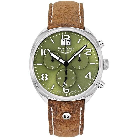 Glashütte Uhren-Serie 17-13208-661 Herrenuhr mit Grossdatum und Chronograph der Serie La Spezia