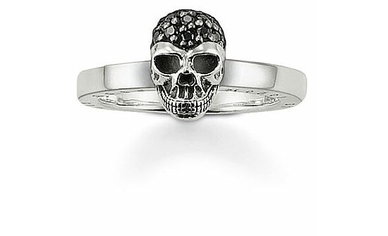 Thomas Sabo TR1877-051-11 Rebel at Heart Ring Totenkopf pavé-schwarz