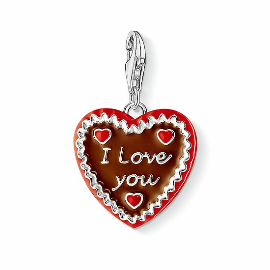 Thomas Sabo CC 1096-007-2 Anhänger Gingerbread Heart CHARM CLUB Lebkuchenherz - I love you