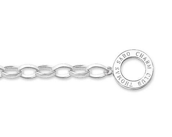 Thomas Sabo X0199-001-12-L60  Necklace Silber CHARM CLUB Charm-Kette poliert 60 cm