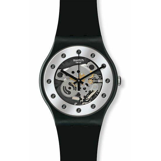 Swatch Uhr SUOZ 147 Seasons Special Sparkling Circle New Gent Silver Glam