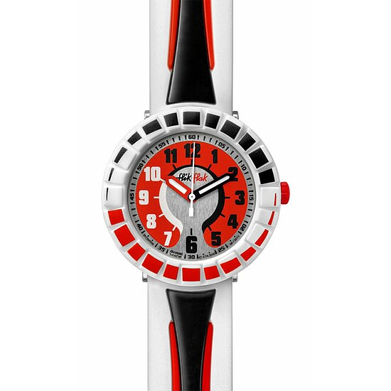 Flik Flak Uhren FCSP006 Kinderuhr Full-Size Boy (7+) All Around Black & Red