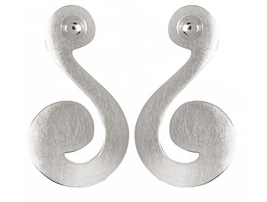 Bastian 9363 Inverun Earrings Silber Ohrstecker kratzmatt