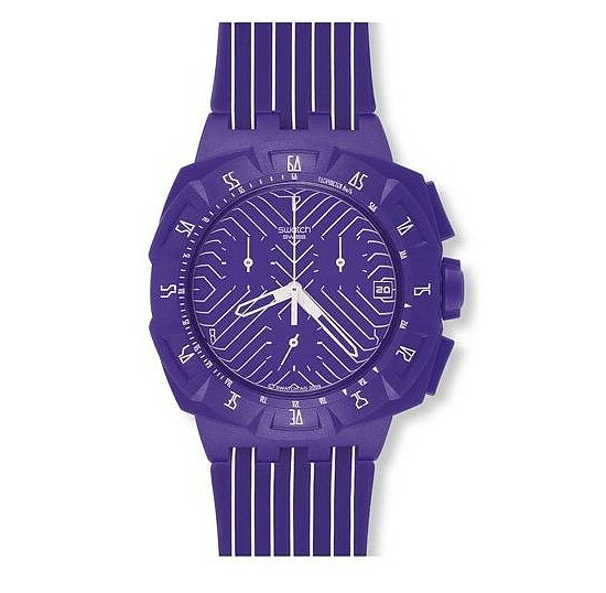 Swatch SUIV 401 Chronograph Plastic Purple Run