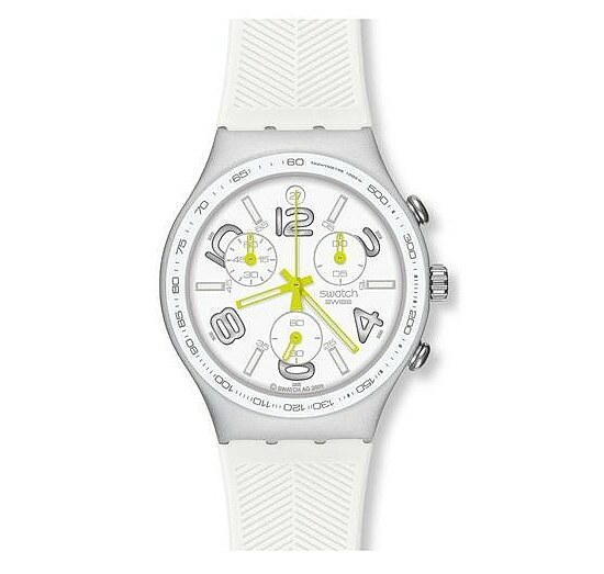 Swatch Uhr YCS4051 Lifestyle Sport Irony Chrono Ray of Light White