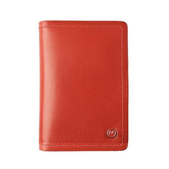 Mondaine NAC.D009 Credit card Holder Kreditkarten-Etui Leder rot