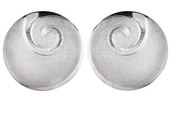 Bastian 9552 Inverun Earrings Silber Ohrclip kratzmatt