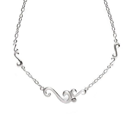 Bastian 9546 Inverun Silber Necklace Collierkette diamantverziert