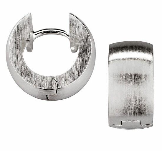 Bastian 35.0039.0001 Inverun Silber Design Creolen strichmatt