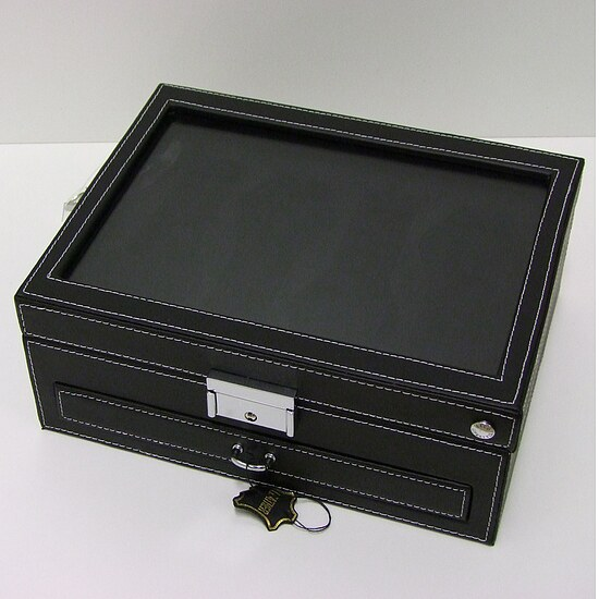 Uhrensammlerbox 4er Cecil Watch 324214 Collector's Box schwarz