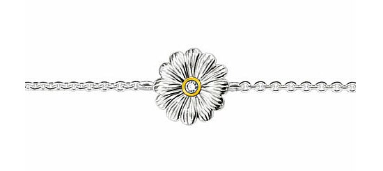 Thomas Sabo SD_A0002-179-14 Sweet Diamonds Armband Blume vergoldet 19 cm