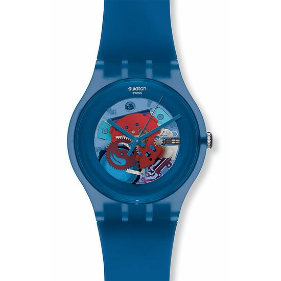Swatch Uhr SUON 102 New Gent Collection Blue Grey Lacquered