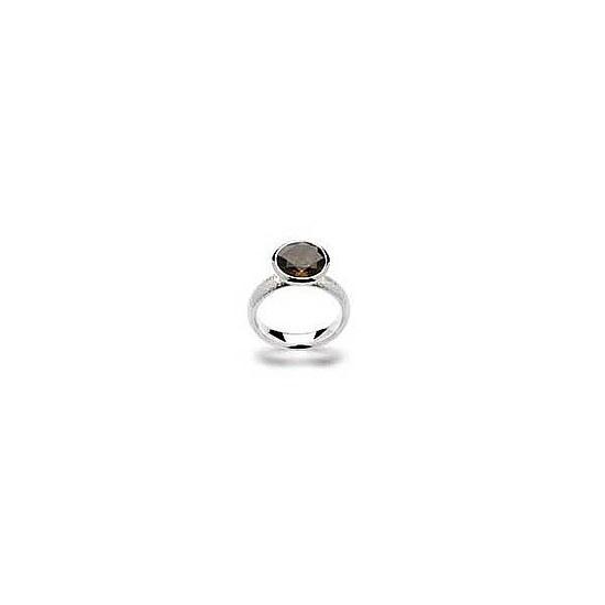 Bastian 9903 Inverun Silber Ring Rauchquarz