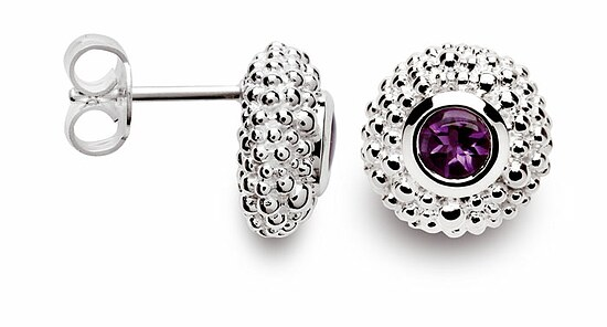 Bastian 10272 Inverun Earrings Silber Ohrstecker Amethyst