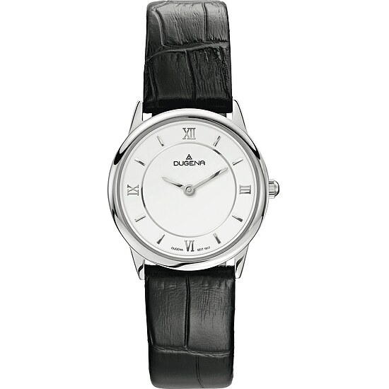 Dugena Modena aus der Uhrenserie 4460437 Lady Design Lederband schwarz