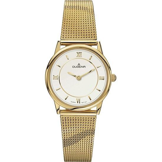 Dugena Modena aus der Uhrenserie 4460440 Lady Design Milanaise vergoldet