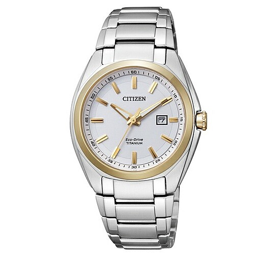 Citizen Uhren EW2214-52A Eco-Drive Lady TI+IP Super Titanium bicolor