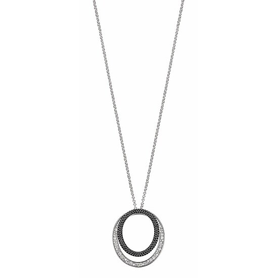 JOOP! JPNL90600C800 Jewellery Necklace Silber Collier Statement Pavée white-black