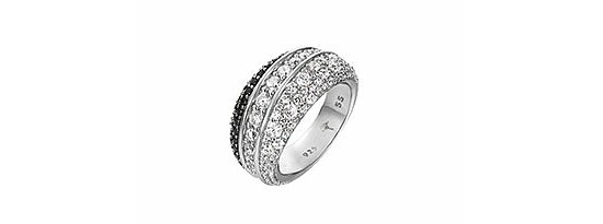 JOOP! JPRG90606C Jewellery Silber Ring Statement white-black