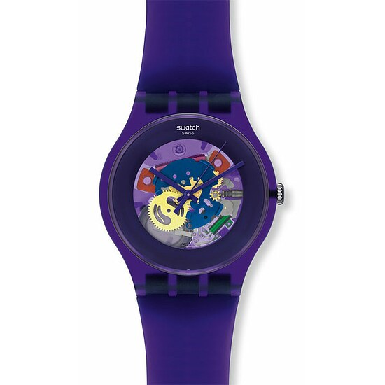 Swatch Uhr SUOV 100 New Gent Collection Purple Lacquered