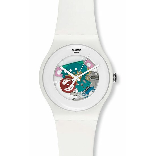 Swatch Uhr SUOW 100 New Gent Collection White Lacquered